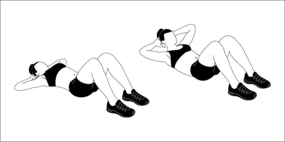 Basic abdominal crunch