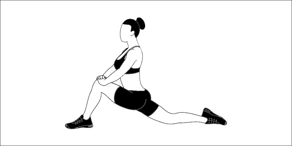 Hip flexor stretch - lunge position